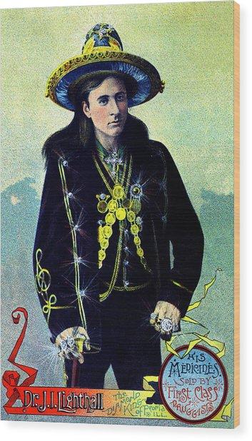 1880 Lighthall's Medicine Show Wood Print
