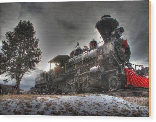 1880 Train Wood Print