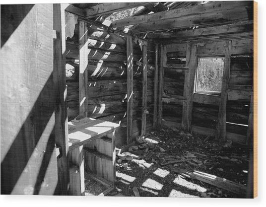 1880's Cabin Wood Print