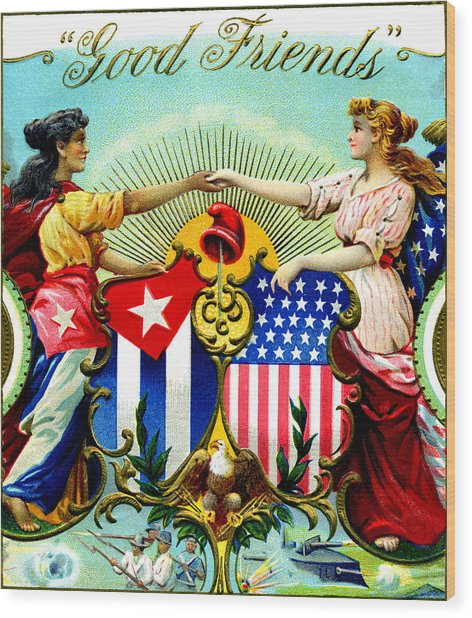 1898 Good Friends Cuban Cigars Wood Print