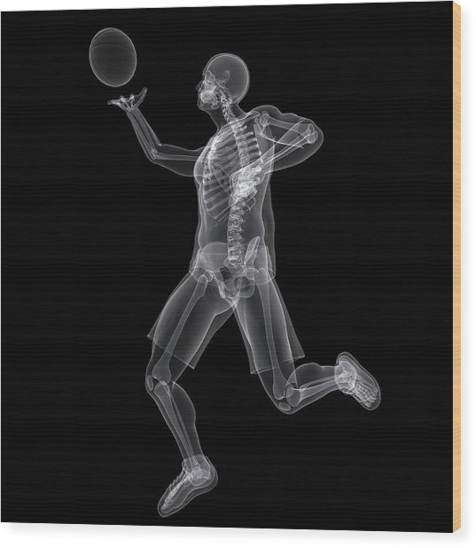 Basketball Player Wood Print by Sciepro/science Photo Library