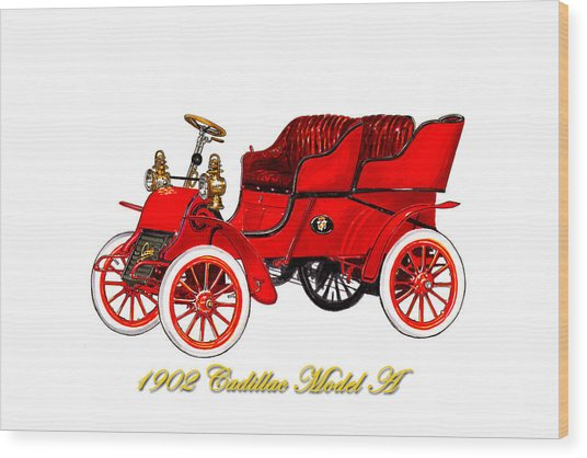 1902 Cadillac Model A Runabout Wood Print