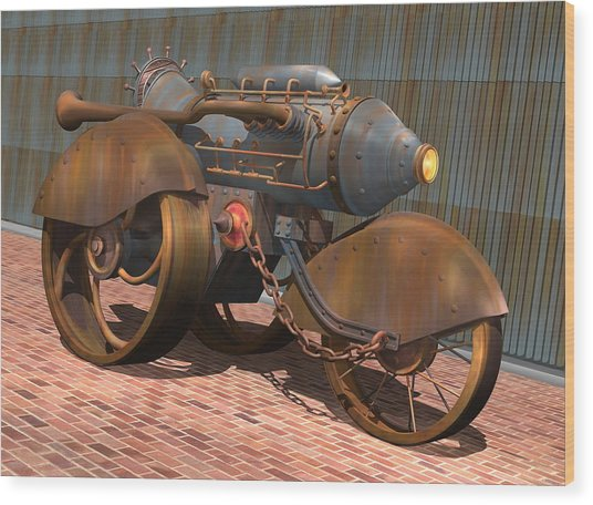 1902 Steam Trike Wood Print