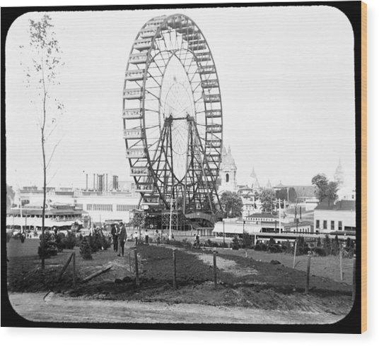 1904 Worlds Fair Observations Wheel Ferris Wheel Wood Print