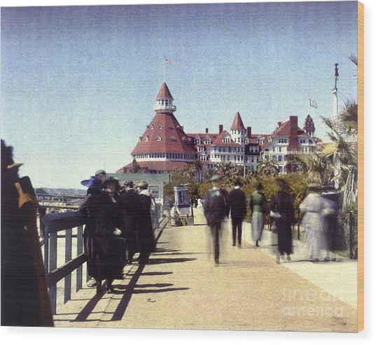 1906 Del Boardwalk Wood Print