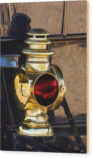1910 Pope Hartford Model T Lamp Wood Print
