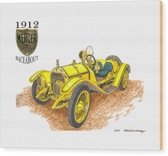 1911 1912 Mercer Raceabout R 35 Wood Print