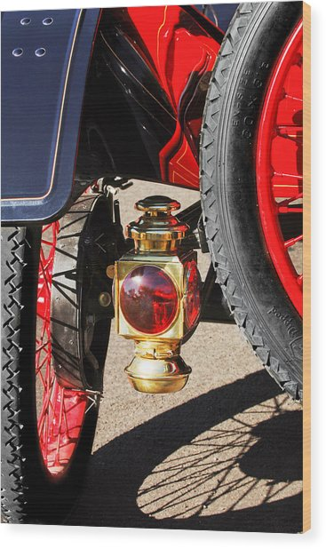 1911 Ford Model T Torpedo 4 Cylinder 25 Hp Taillight Wood Print