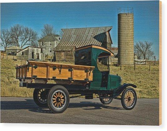 1923 Ford Model Tt One Ton Truck Wood Print