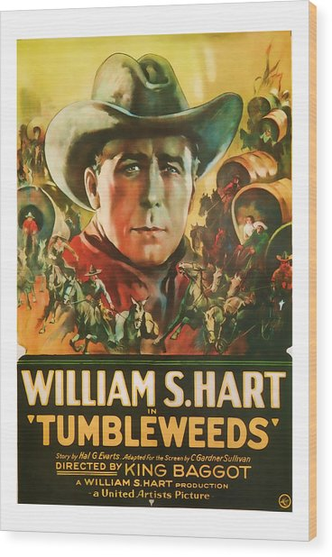 1925 Tumbleweeds Vintage Movie Art Wood Print