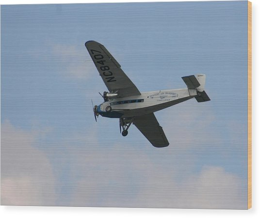 1929 Ford Tri Motor Mail Plane Side Wood Print