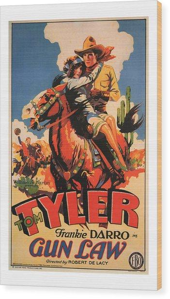 1929 Gun Law Vintage Movie Art Wood Print