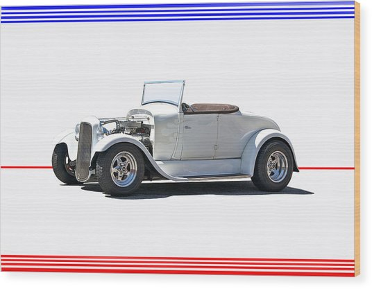 1930 Ford Model A Roadster I Wood Print by Dave Koontz