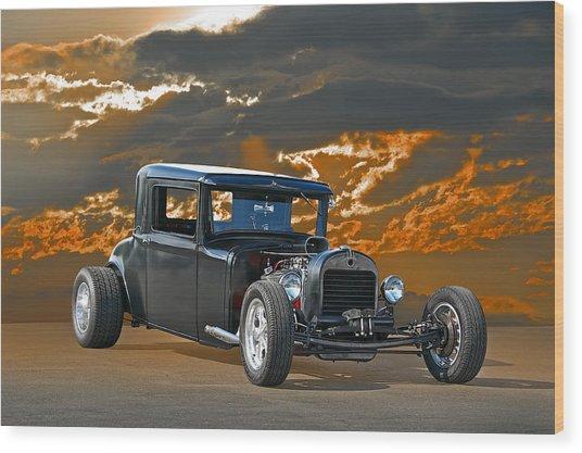 1930 Hudson Hod Rod I Wood Print by Dave Koontz