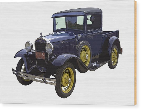 1930 - Model A Ford - Pickup Truck Wood Print