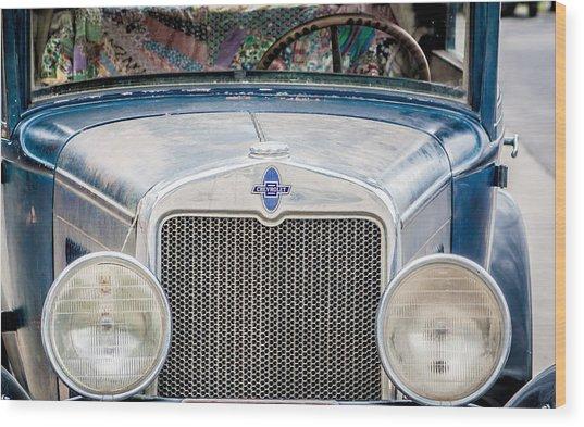 1930's Chevy Headlights Wood Print