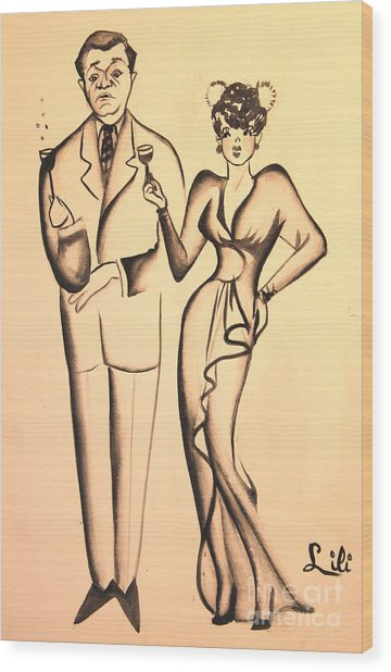 1930s Couple On The Town Wood Print