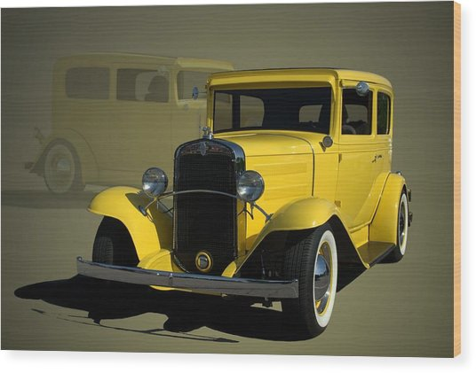 1931 Chevrolet Sedan Hot Rod Wood Print