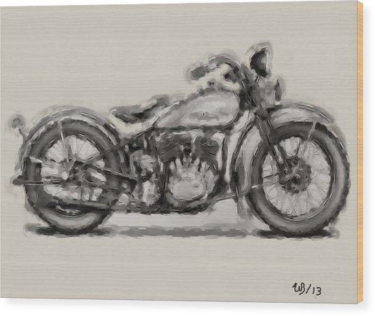 1931 Harley Model D Wood Print