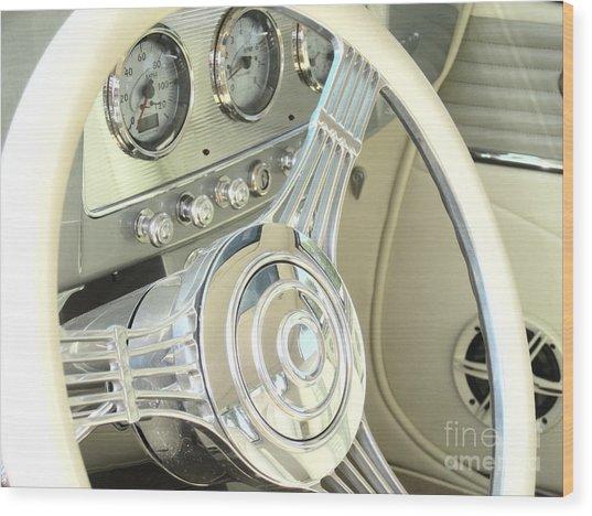 1932 Cabriolet Hupmobile Steering Wood Print