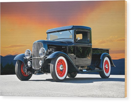 1932 Ford Pick Up II Wood Print by Dave Koontz