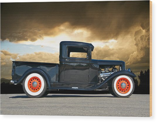 1932 Ford Pick Up Iv Wood Print by Dave Koontz