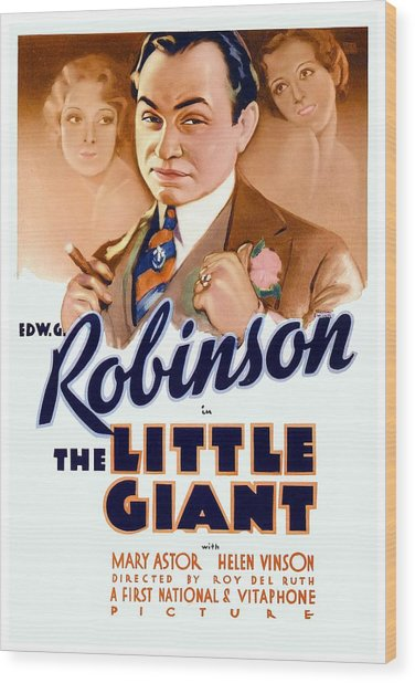 1933 - The Little Giant - Warner Brothers Movie Poster - Edward G Robinson - Color Wood Print