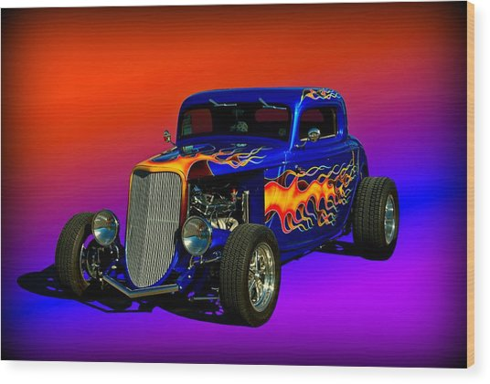 1933 Ford High Boy Hot Rod Wood Print