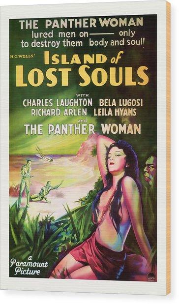 1933 Island Of Lost Souls Vintaage Movie Art Wood Print