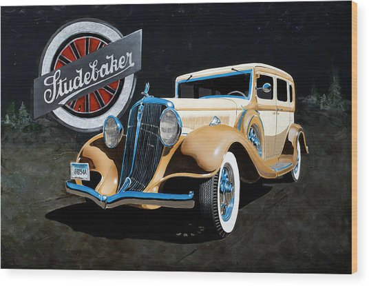 1933 Studebaker Wood Print