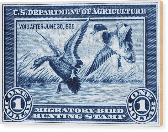1934 American Bird Hunting Stamp Wood Print