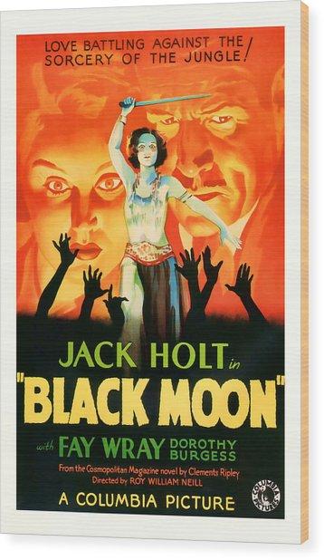 1934 Black Moon Vintage Movie Art Wood Print