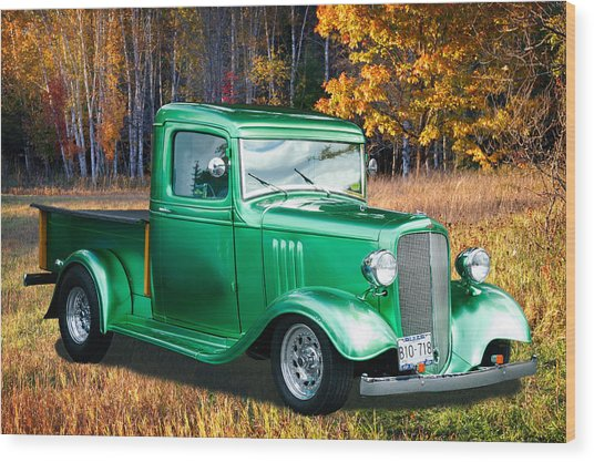 1934 Chev Pickup Wood Print