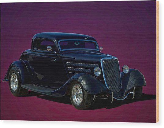 1934 Ford 3 Window Coupe Hot Rod Wood Print