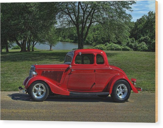1934 Ford 5 Window Hot Rod Wood Print