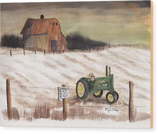 1934 John Deere Model A For Sale Wood Print