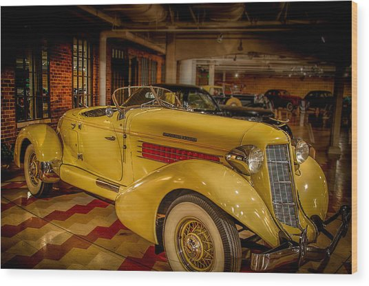 1935 Auburn 851 Speedster Supercharged Wood Print by Gene Sherrill