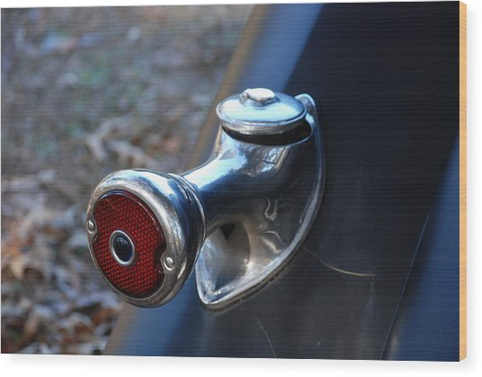 1935 Ford Tail Light And Gas Cap Wood Print