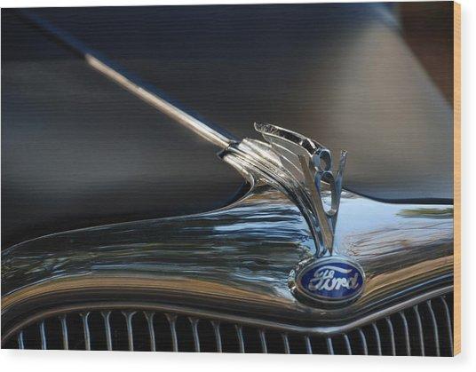 1935 Ford V8 Emblem  Wood Print
