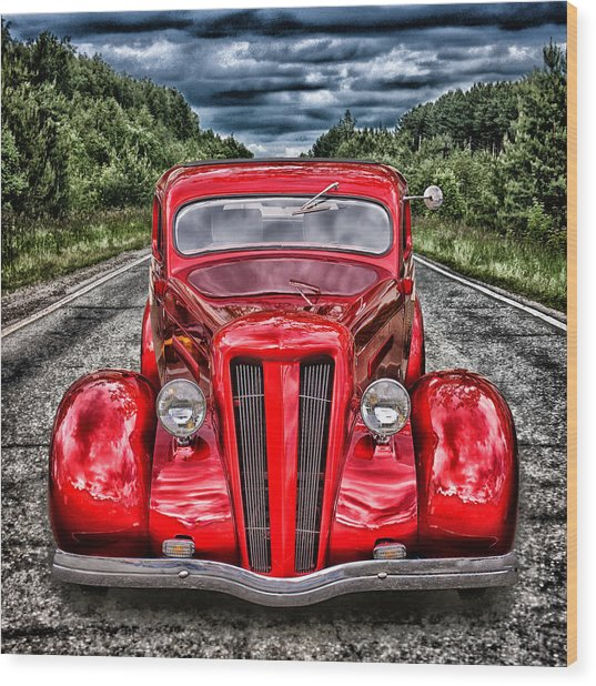 1935 Ford Window Coupe Wood Print