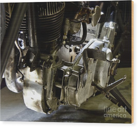 1936 Indian Flat Tracker Motorcycle Wood Print by Wilma  Birdwell