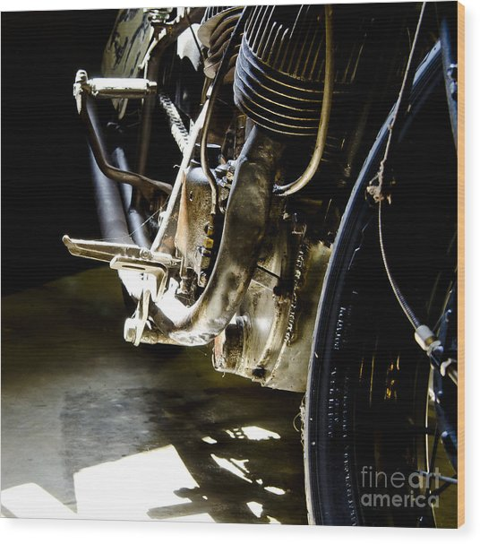 1936 Indian Tracker Racer Wood Print by Wilma  Birdwell