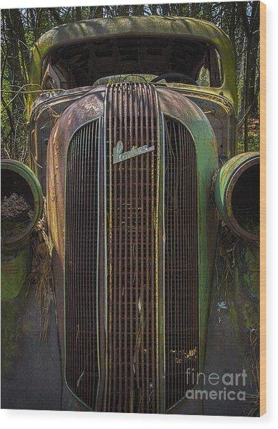1936 Pontiac Head On Wood Print