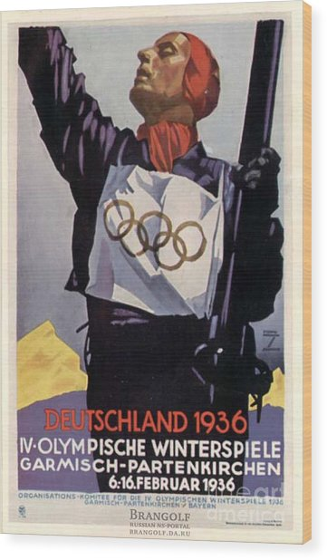 1936 Winter Olympics Wood Print by Unknown