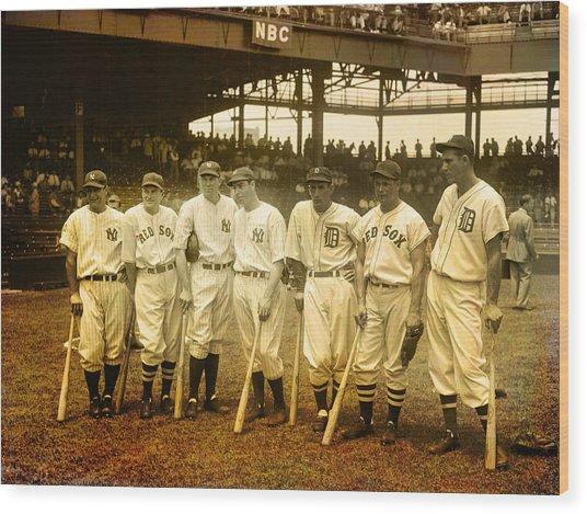 1937 All Stars Wood Print