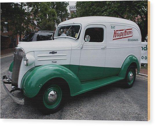 1937 Chevy Delivery Van Wood Print