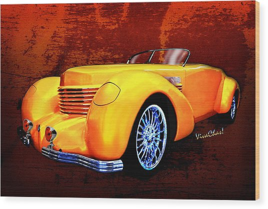 1937 Cord Coffin Nose Speedster Concours On Toast Wood Print