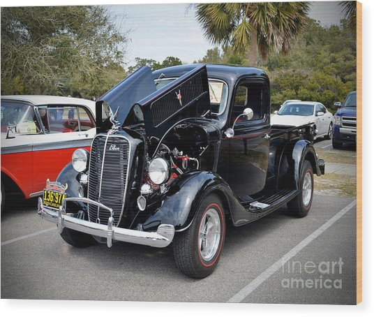 1937 Ford Pick Up Wood Print