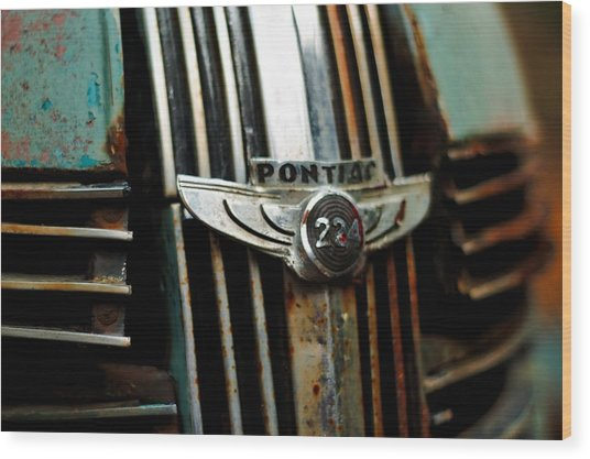 1937 Pontiac 224 Grill Emblem Wood Print
