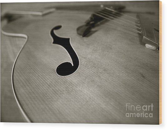 1938 Acoustic Archtop Wood Print